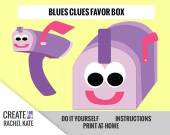 Blues Clues Inspired Mailbox Mail Party Favor Box Bag Container Mail Time