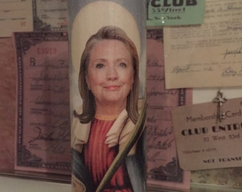 St Hillary Clinton Democrat Presidential Race Prayer Candle