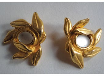 """Vintage Earrings. Vintage Stud Earrings """"once upon a time""""; Earrings clips;  Collectibles; Made in France. Gift for her."""