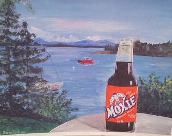 Hand Painted Moxie in Maine Acrylic Painting