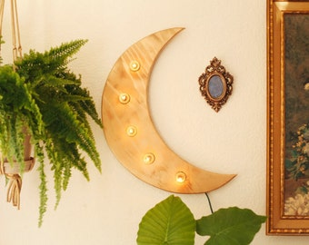 Moon Marquee Sign. Gyspy Moon. Moon Child Sign. Marquee Sign.