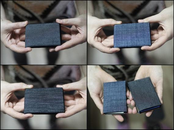 Vegan Wallet, Denim Minimalist Wallet, Womens Wallet, Mens Wallet, Slim Minimalist Wallet, Modern Design Wallet - RFID Wallet