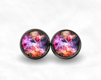 Galaxy Nebula Stud Earrings | Galaxy Earrings Galaxy Jewelry Space Earrings Cosmic Star Earrings Bohemian Jewelry Galaxy Studs Nebula Studs
