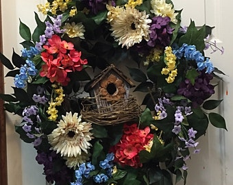 Everyday Wreath, Spring Wreath Decor,  Floral Wreath, Home Decor, Year Round Wreath, Year Round Decor, Summer Wreath, Everyday Decor