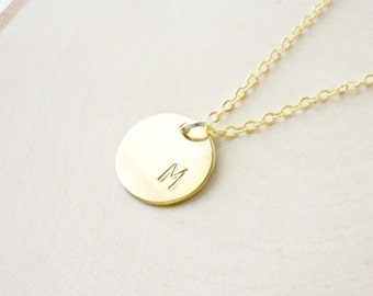 Disc Necklace Gold Filled 13mm