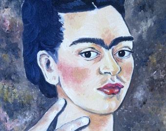 SALE Frida Kahlo Selfie Portrait: Print