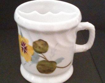Antique 1900's Hand Painted Flowers Shaving Mug
