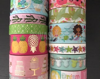 """CLEARANCE! 18""""/24"""" SAMPLES of craft smith assorted washi tape (M134)"""