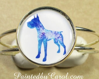 Great Dane Bracelet, Great Dane Cuff, Great Dane Jewelry, Great Dane Gifts, Great Dane Presents, Great Dane Mom Gift, Great Dane Stuff