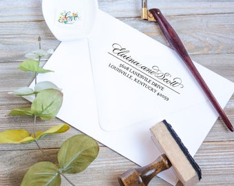 Custom Calligraphy Address Stamp | Personalized Address Stamp | Handwritten | Housewarming gift | Realtor gift | Mother's Day gift