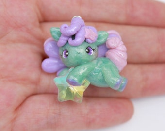 Adorable Cotton Candy Pegasus - Polymer Clay Charm