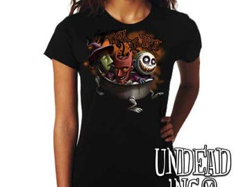 Nightmare Before Christmas - Lock Shock and Barrel - Trick or Treat - Ladies T Shirt