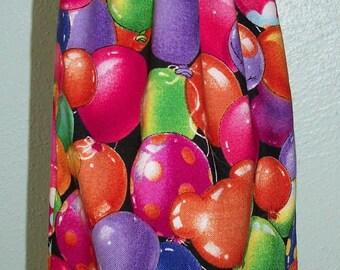 Baloons Wine Bottle Bag - Reversible - Drawstring - Reusable