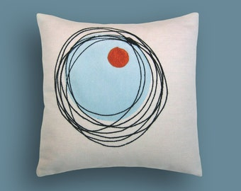 Mod Scribbles Decorative Pillow 12 x 12 inches