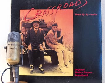 "Crossroads Vinyl Soundtrack Album Ry Cooder LP 1980s Pop Culture Movie Music Ralph Macchio Geekout ""Crossroads"" (RARE 1986 Columbia House)"