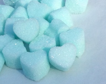 Rainbow Sugar Cube Hearts for Tea. Coffee. Weddings. Baby Showers and Party's