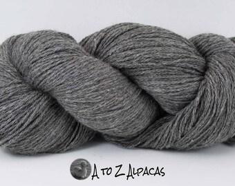 Worsted Weight - Gray - Alpaca Yarn - Made in Canada