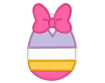 Daisy Duck EASTER EGG Machine Applique Embroidery - Instant Digital Download