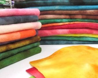 "Hand Dyed 100% Wool Felt 9""X12"" Sheets"