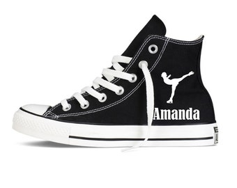 Ice Skating Personalized Converse Youth Shoes  with name