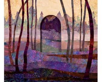 batik original collectible art titled Dawn/Early Spring