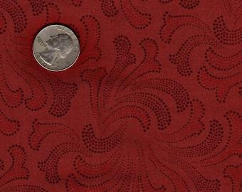 "Quilters 1/8th (9""x22"") Jinny Beyer Terra Cotta Orange Firework Splash RJR Vintage Fabric"
