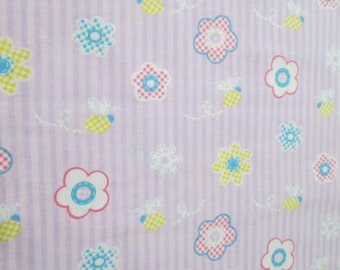 REDUCED PRICING*: Spring Fever on Lavender Stripes Surgical Scrub Top / X Small - XX Large
