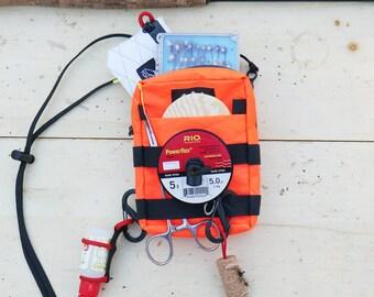 Tenkara Simple Pack - Fly Fishing Minimalist Pouch - X Pac - Blaze Orange