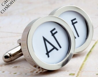 2 Initial Monogrammed Cufflinks PC554