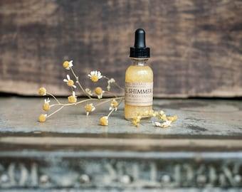 Herbal Shimmer Oil, Vitamin C serum, Glow serum, Vitamin E serum, body shimmer, glow oil, sparkle oil, wrinkle face serum