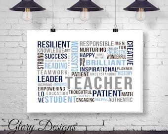 Teacher Appreciation gift, Teacher quote, Teacher printable, The influence of a teacher, Printable, Classroom printable, inspirational quote