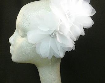 JACQUELINE Organza Flowers Handmade Hair Ornament