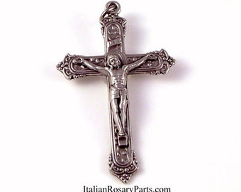 Deluxe Victorian Style Rosary Crucifix | Italian Rosary Parts Religious Supply