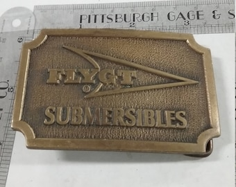 Vintage used  Belt Buckle Flyght Submersibles