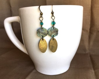 On The Beach... Extreme Decaf Earrings .. FREE U.S. SHIPPING