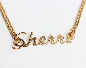 Sherri Name Necklace, Name Necklace