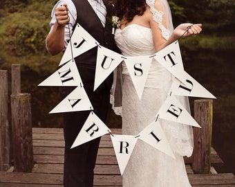 Just Married Banner: Triangle Double Strand