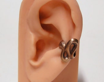 Coil Snake Ear Cuff (br)