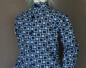 Cubed black n white shirt for BJD Dollfie Sd13 boys sizes