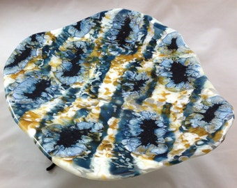 Boiled Fused Glass Earth Platter