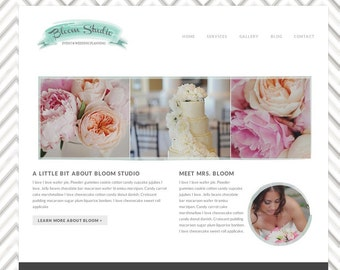 Responsive Wordpress Template - Wordpress Theme - Wordpress Wedding website - wordpress photography blog with slideshow