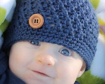 Crochet Baby Hat, Newborn Hat, Baby Boy, Baby Hat, Baby Boy Hat, Newborn Photo Prop, Newborn Boy Hat, Baby Hat for Boys, Crochet Newborn Hat
