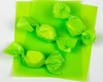 """Pistachio Green Caramel Wrappers or Taffy Wrappers, 4"""" x 5"""", Package of 100"""