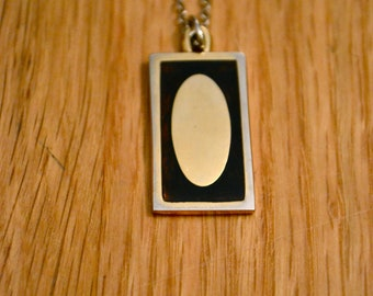 Gold Tag Pendant Necklace