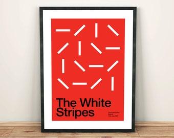 The White Stripes Remixed Gig Poster, Art Print, Music Poster