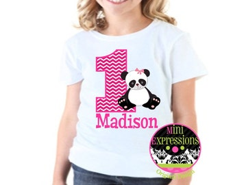 Girl Panda Birthday shirt Personalized just for You