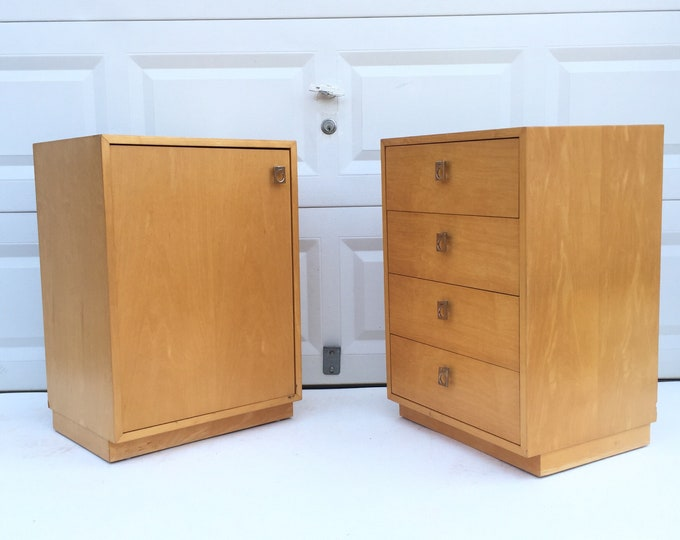 Pair Tall Vintage Nightstands by Founders