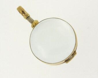 Gold Locket Necklace, Glass Locket Pendant, Brass - for Relics, Mementos, Keepsakes, Photos