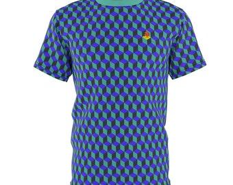 Men's Q-Bert All-Over T-Shirt
