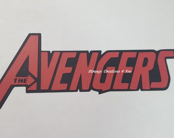 Avengers Title, Marvel Diecut, paper piecing for scrapbooking